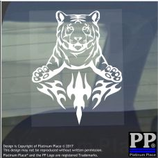 Tiger Flame-Vinyl Sticker-Car Window Graphic Decal Sign Animal,Stripes,Mascot
